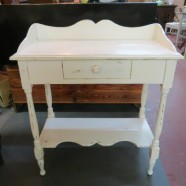 Vintage antique shabby chic painted table/desk – $175
