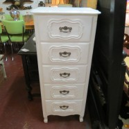 Vintage antique French style lingerie chest – $125