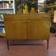 vintage mid-century modern Heywood Wakefield birch small credenza – $395