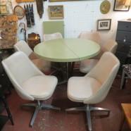 vintage mid-century modern 7 pc dinette set – $395