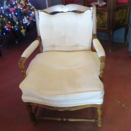 vintage antique country French style armchair – $295
