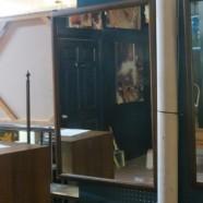 SALE! vintage mid-century modern Lane walnut mirror – $125