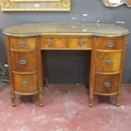 Vintage antique mahogany kidney shaped desk/vanity – $395