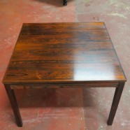 Vintage Danish modern rosewood square coffee table – $295