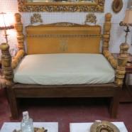 Vintage antique repurposed wood daybed/sofa-$589