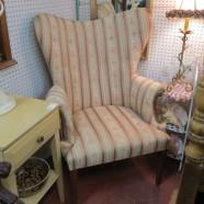 Vintage antique wing back armchair-$325