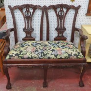 Vintage Chippendale style settee love seat-$350