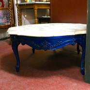 Vintage antique French style marble top coffee table-$275