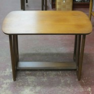 Vintage mid-century modern walnut side table-$75