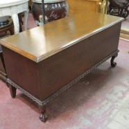 Vintage antique mahogany Lane cedar chest-$215
