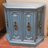 Vintage mid-century modern shabby chic 4 door small cabinet-$145