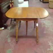 Vintage antique pecan drop leaf dining table – $275