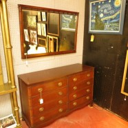 Vintage antique mahogany chest of drawers, dresser – $350