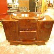 vintage antique walnut Art Deco bar c. 1920s-1930s – $890