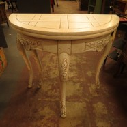 vintage French style Baker demilune expanding table – $185
