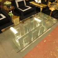 vintage 1970s Lucite and glass coffee table – $725