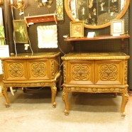 pair of vintage Italian style gilt Rococo side tables c. 1960 – $250
