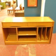vintage Danish modern teak credenza / desk c. 1960 – $495