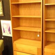 vintage Danish modern teak bookcase with drawers c. 1960 – $295