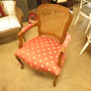 Vintage antique French style walnut arm chair c. 1950 – $135