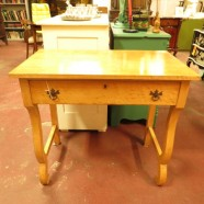 Sale! vintage antique bird's eye maple small desk or vanity c. 1910 – now $195, originally $250