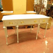 vintage antique Sheridan style painted sideboard or buffet c. 1940 – $595