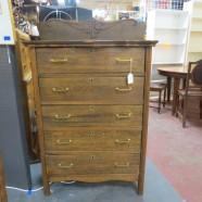 SALE! vintage antique oak five drawer chest or dresser c. 1900 – $225