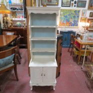 vintage antique small painted shabby chic hutch c. 1920 – $155