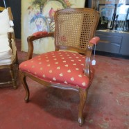 SALE! Vintage antique French style walnut arm chair c. 1950 – now $75, originally $135