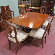 SALE! Now $995, originally $1295/ set. Vintage antique mahogany dining room set