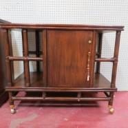Sale! vintage mid century modern tiki rattan bar / server – $350