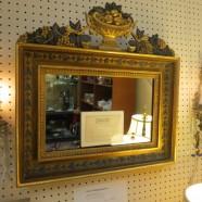 pair vintage antique gilt carved mirrors c. 1825 – $2695