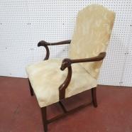 vintage antique victorian mahogany rams' head chair c. 1890 – $265