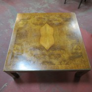 vintage mid century modern Baker large square coffee table c. 1960 – $395
