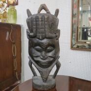 carved African tourist art from Yoruba, Nigeria c. 1970 – $195