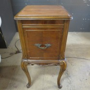 vintage antique French style walnut nightstand c. 1930 – $150