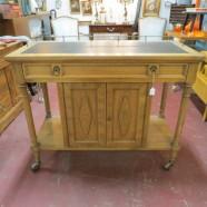SALE! Now $189, originally $250. vintage mid century modern oak bar / server c. 1960 – $189