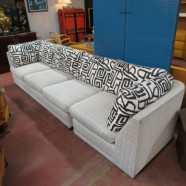 vintage mid century modern two piece sectional sofa – $795