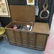 vintage mid century modern Zenith stereo console c. 1970 – $145