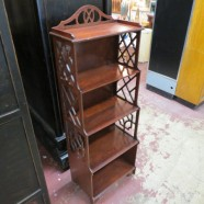 vintage antique small mahogany bookcase c. 1940 – $175