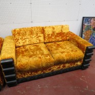 Sale! vintage mid century modern Witco RARE jungle room tiki collection loveseat c. 1950 – $495