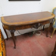 vintage antique French style walnut console/dining table/server c. 1920 – $900