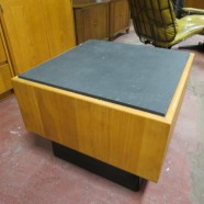 Sale! vintage mid century modern teak and slate coffee table / side table c. 1960 – now $125, originally $165