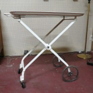 Vintage antique shabby chic metal bar cart c. 1920 – $160