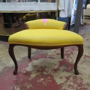 Vintage antique mahogany  vanity chair c. 1940 – $65