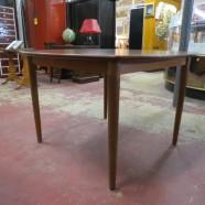 Vintage Danish mid century modern walnut dining table c. 1960 – $195