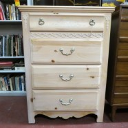 Sale! Vintage antique shabby chic knotty pine chest of drawers c. 1960 – $195