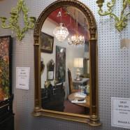 Vintage antique large arched mirror c. 1960 – $330