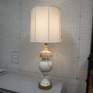 Vintage antique large carved marble lamp c. 1960 – $295