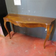 Vintage antique walnut console/sofa table/desk c. 1920 – $165